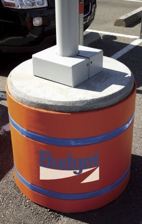 Custom Cushioned Light Pole Base Covers Parking Padding