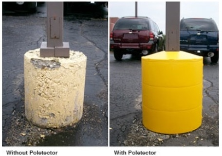 Light Pole Base Cover Kit Parking Padding Solutions